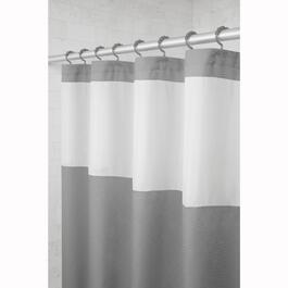 "70"" x 72"" Hendrix Grey Polyester Shower Curtain, with Hooks thumb"