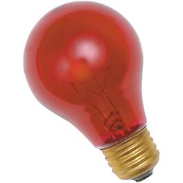 25W A19 Medium Base Red Light Bulb thumb