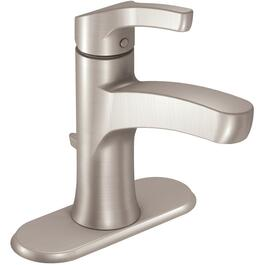 Danika 1 and 3 Hole Brushed Nickel Single Handle Lavatory Faucet with Pop Up thumb