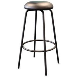 "31"" Heavy Duty Metal Work Stool, with Upholstered Seat and Footring thumb"