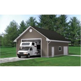 26' x 38' x 8' RV Garage Package, with Complete Exterior Options thumb