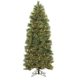 6.5' Staylit Slim Christmas Tree, with 300 Clear Lights thumb