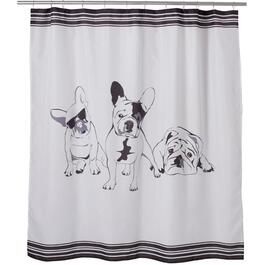 "72"" x 72"" French Bulldogs Polyester Shower Curtain thumb"