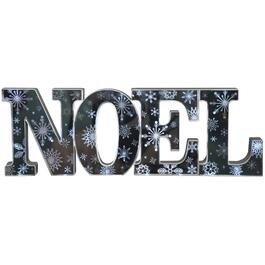 "23.5"" Battery Operated Mirrored Noel Wall Sign thumb"