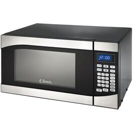 900 Watt .9 Cu.Ft. Black Countertop Microwave Oven, with Stainless Steel Trim thumb