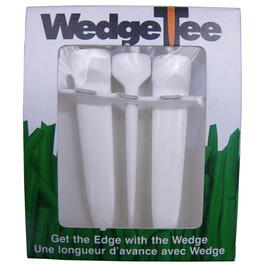 3 Pack White Wedge Golf Tees thumb