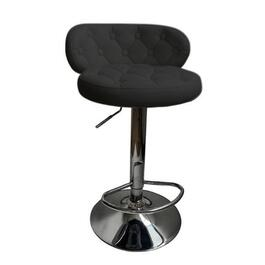 "2 Pack 24-32"" Curved Black Leather/Match Bar Stools thumb"