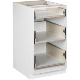 "18"" 3-Drawer White Knockdown Base Cabinet thumb"