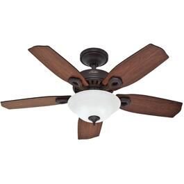 "Auberville 44"" 5 Blade New Bronze Ceiling Fan with Light thumb"