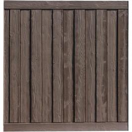 6' x 6' Dark Walnut Brown Ashland Panel Fence thumb
