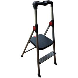2 Step Aluminum Step Ladder, with High Handrail thumb