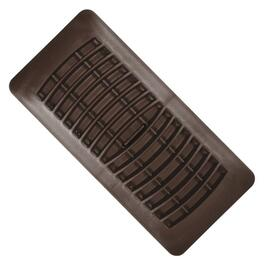 "2-1/4"" x 12"" Brown Poly Floor Diffuser thumb"