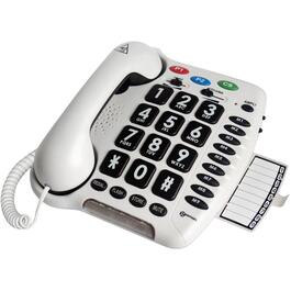 White Corded Amplified Phone, with Big#'s thumb