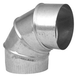 "4"" 26 Gauge 90 Degree Galvanized Adjustable Elbow thumb"