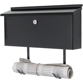 Black Locking Ranch Wallmount Mailbox thumb