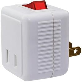 White Outlet Plug-In Switch Tap thumb