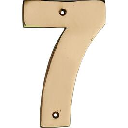 "5"" Polished Copper '7' House Number thumb"
