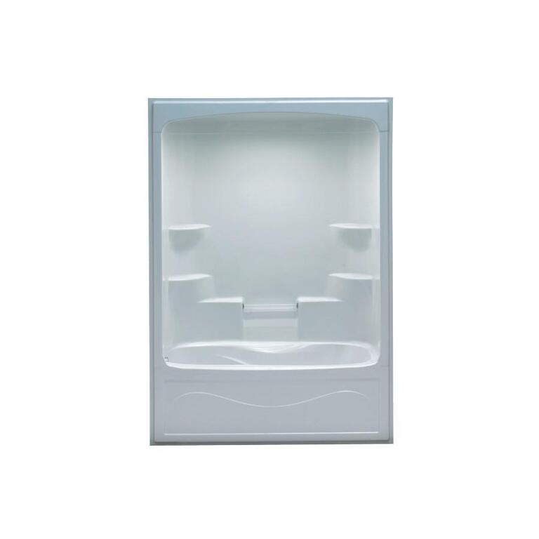 1 Piece White Acrylic Right Hand Tub and Shower - Home Hardware