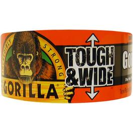 "2.88"" x 30YD Tough & Wide Black Duct Tape thumb"