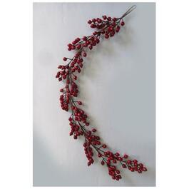 5' Decorated Red Berry Garland thumb