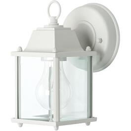 "8.5"" White Outdoor Downward Coach Light Fixture thumb"