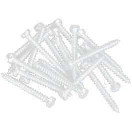 "100 Pack 8"" x 1-1/4"" White Robertson Pan Head Screws, for Aluminum Soffit and Fascia thumb"