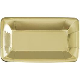 8 Pack Gold Paper Appetizer Plates thumb