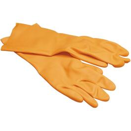 Medium Orange Heavy Duty Industrial Latex Work Gloves thumb
