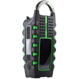 Portable Rugged AM-FM Multi-Purpose Digital Radio, with USB, Flashlight and Crank thumb