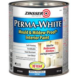 931mL Interior Perma White Wall and Ceiling Satin Latex Paint thumb