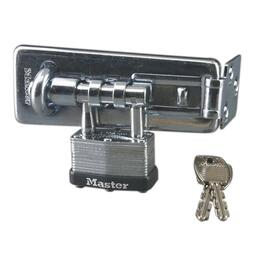 "1-3/4"" Zinc Warded Lock Hinge Hasp thumb"