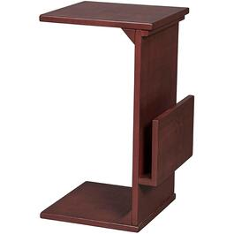 Rooster Red Square Chairside Table, with Magazine Rack thumb