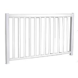 6' Aluminum Straight Wide Picket Railing Package thumb