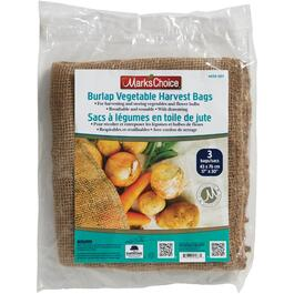 3 Pack Burlap Vegetable Storage Harvest Bags thumb