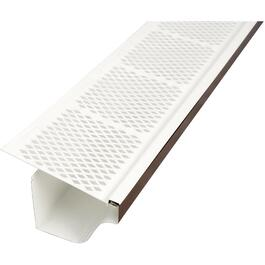 3' White Snap-In PVC Gutter Guard thumb