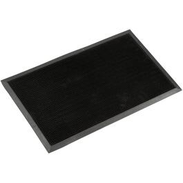 "18"" x 30"" Black Rubber Fingertip Door Mat thumb"