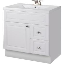 "30"" x 21"" Halifax White 1 Door 2 Drawer Vanity thumb"