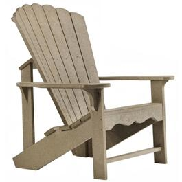 Beige Recycled Plastic Adirondack Chair thumb