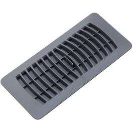 "4"" x 10"" Grey Poly Floor Diffuser thumb"