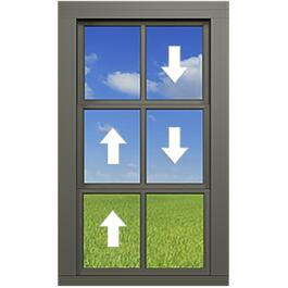 "36"" x 84"" Single Section Vertical Vinyl Hung Porch Slider Window thumb"