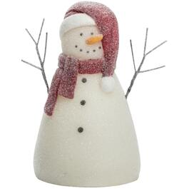 "3"" x 5"" Battery Operated Wax Snowman Figure Candle thumb"