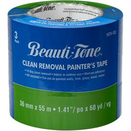 3 Pack 36mm x 55m Blue Painter's Tape thumb