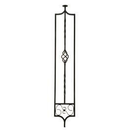 "3/8"" X 6"" X 35"" Wrought Iron Panel Hallway Baluster thumb"