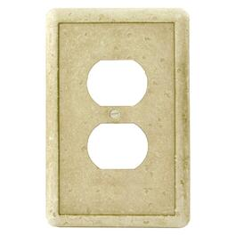 Earth-Stone 1-Gang Duplex Receptacle Plate thumb