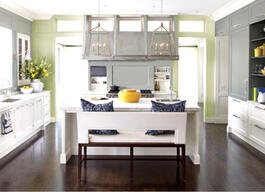 Here's How to paint your kitchen cabinets.