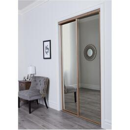 "72"" x 80"" Sandstone Aurora Mirror Sliding Door thumb"