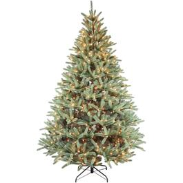 5' Blue Spruce Christmas Tree, with 250 Clear Lights thumb