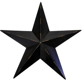 "24.5"" Black Metal Wall Hanging Star thumb"