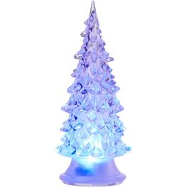 "5.5"" Acrylic Battery Operated LED Colour Changing Tabletop Tree thumb"