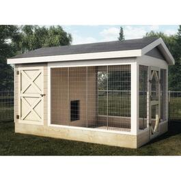 8' x 12' Dog Kennel Package, with Vinyl Siding thumb